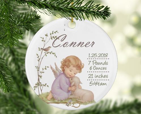 Baby Boy Cherub Ornament