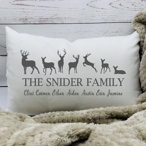 Deer Family Pillow