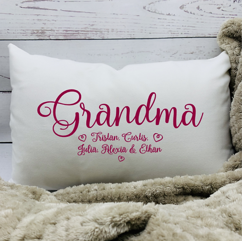 Grandma or Nana Pillow