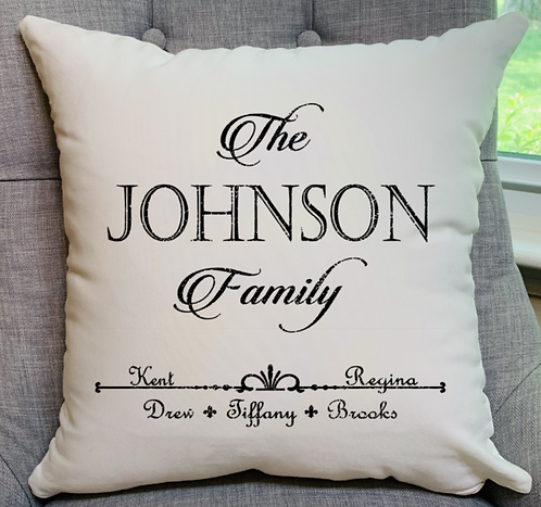 Family Pillow with Names