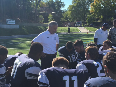 The Bloomfield Hills Cranbrook Cranes (4-1) (1-0) corral the Lutheran High North Mustangs (2-3) (0-1