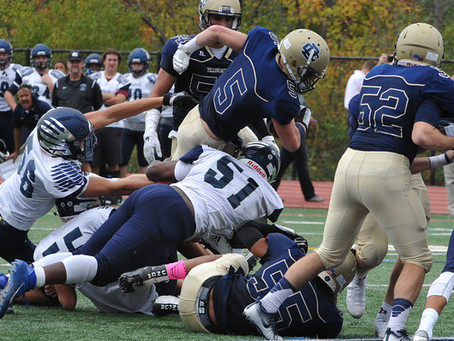 The Bloomfield Hills Cranbrook Cranes (7-3) fall to the Country Day Yellowjackets (10-0) 35-7; exit