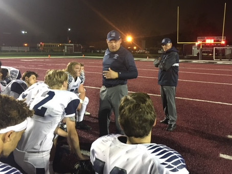 The Bloomfield Hills Cranbrook Cranes corralled by the Riverview Gabriel Richard Pioneers 21-14 in C