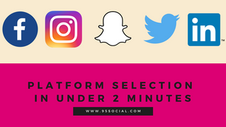 How To Select Your Social Platforms In Under 2 Minutes