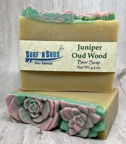 Juniper Oud Wood Beer Soap