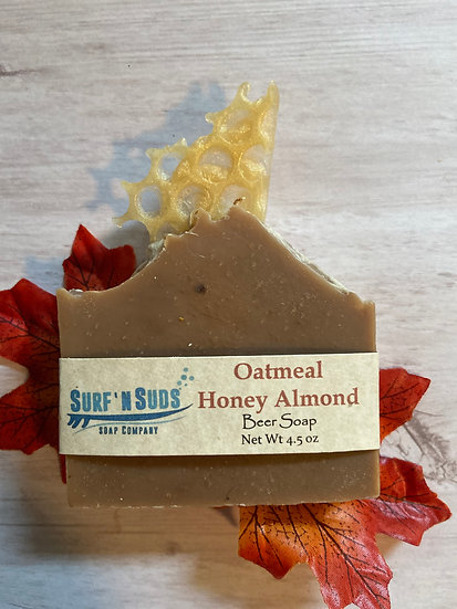 Oatmeal Honey Almond Beer Soap