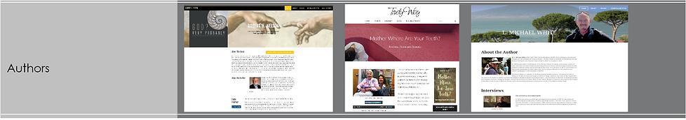 Sample Fionda designed websites. Catagory: Book Authors