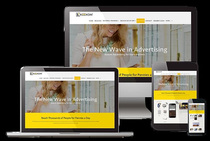 Sample website design by Fionda