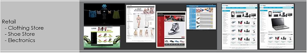 Sample Fionda designed websites. Catagory: Retail Sales