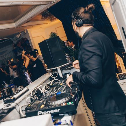 Dj Mixing On Decks On NYE2018