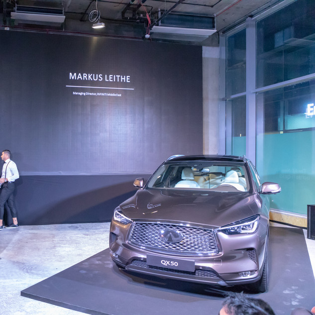 CEO Talking At The Lauch Of The Infiniti GX50