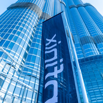 Infinix Mobile Branding Outside The Burj Khalifa In Dubai