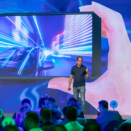 Guest Speaker On Stage At The Launch party Of The Infinix Mobiel Phone