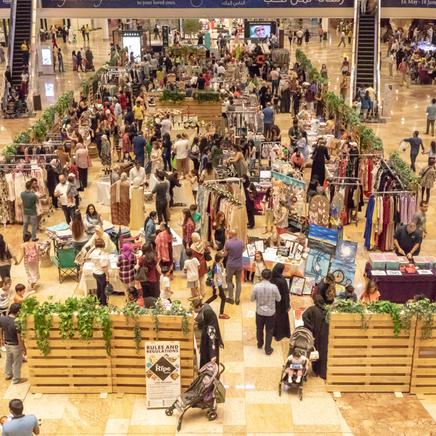 Ariel Shot Of Ripe Market In Dubai Festival Mall