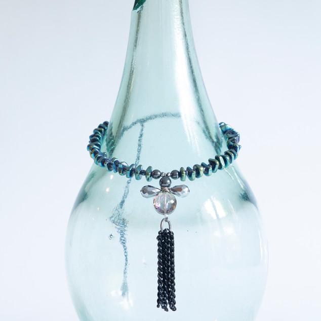 Necklace On A glass Vase