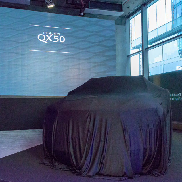 Infiniti QX50 Car with Blanket Over It