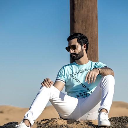 Male Model In Al Qudra Desert