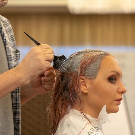 Teacher Dye Models Hair
