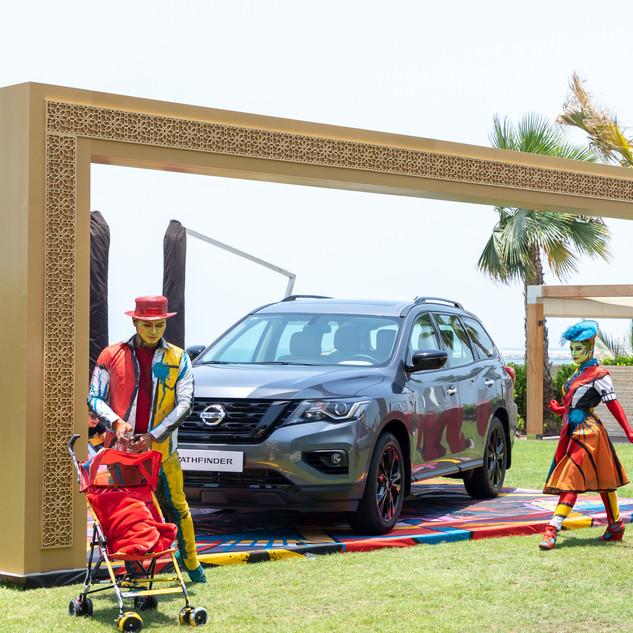 Clowns Unveil The New Nissan Pathfinder