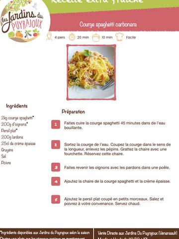 Courge spaghetti carbonara