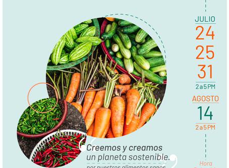 """""""Creemos y creamos un planeta sostenible"""" Por nuestros alimentos sanos."""