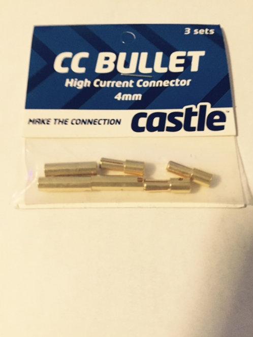 Castle CC Bullet Connectors 4mm