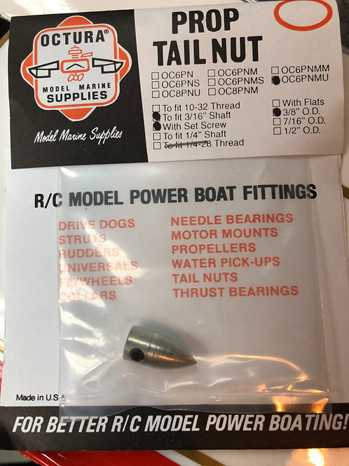 """3/16"""" .187 Prop Tail Nut Smooth"""