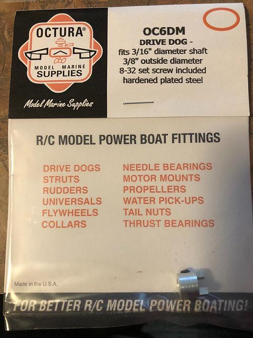 OC6DM Drive Dog for 3/16 Stub Shaft