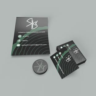 Õpilasfirma Slick  logo, visiitkaardi kujundus ja plakat