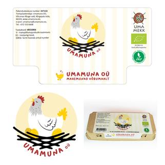 Umamuna OÜ logo ja pakendi kujundus
