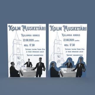 Kolme musketäri plakat 2 versiooni