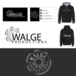WalgeProduction OÜ logo, kampsuni ja visiitkaardi kujundus
