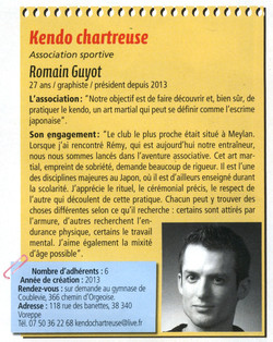 Kendo Chartreuse article Magville