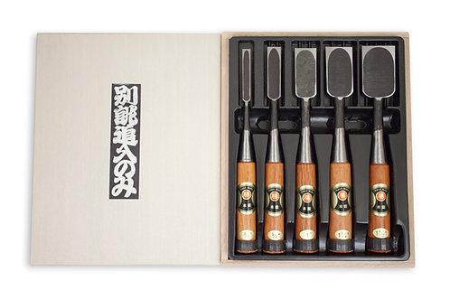 Marukatsu Authentic Japanese Chisel Set (5 Piece)
