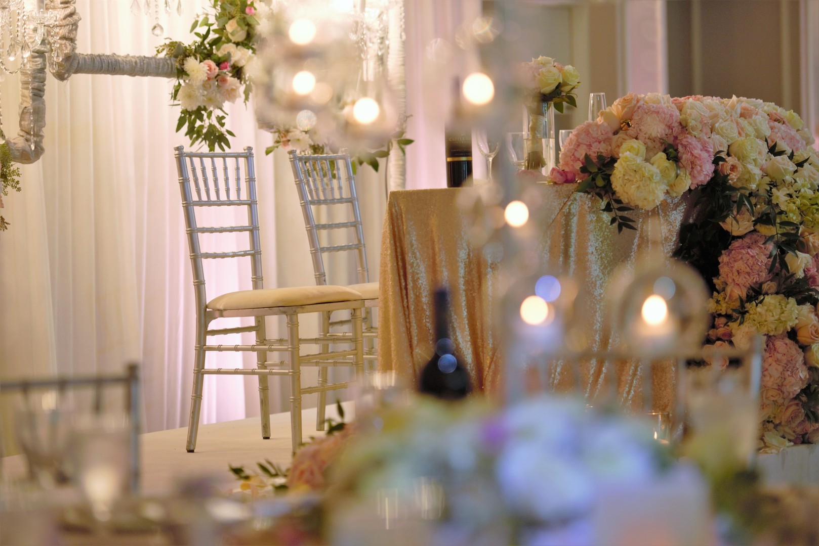 Head table design at Galaxy Banquets