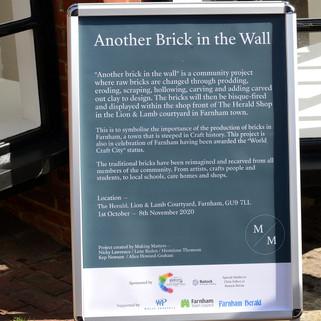Another Brick in the Wall, Herald shop, Lion & lamb Courtyard, Farnham