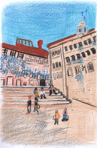 Santiago de Compostela Erin D Illustrati