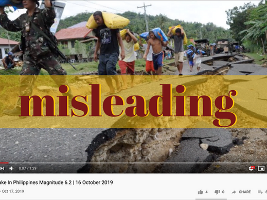 Youtube video uses old photos for October quake