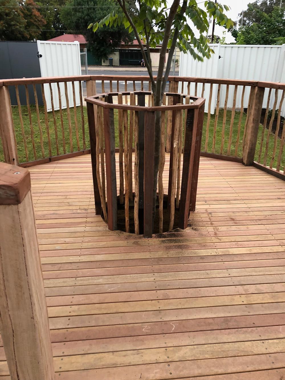 Hard wood decking