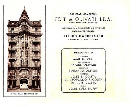 Feit y Olivari LDA - Fluido Manchester - Directorio - Belgrano 881