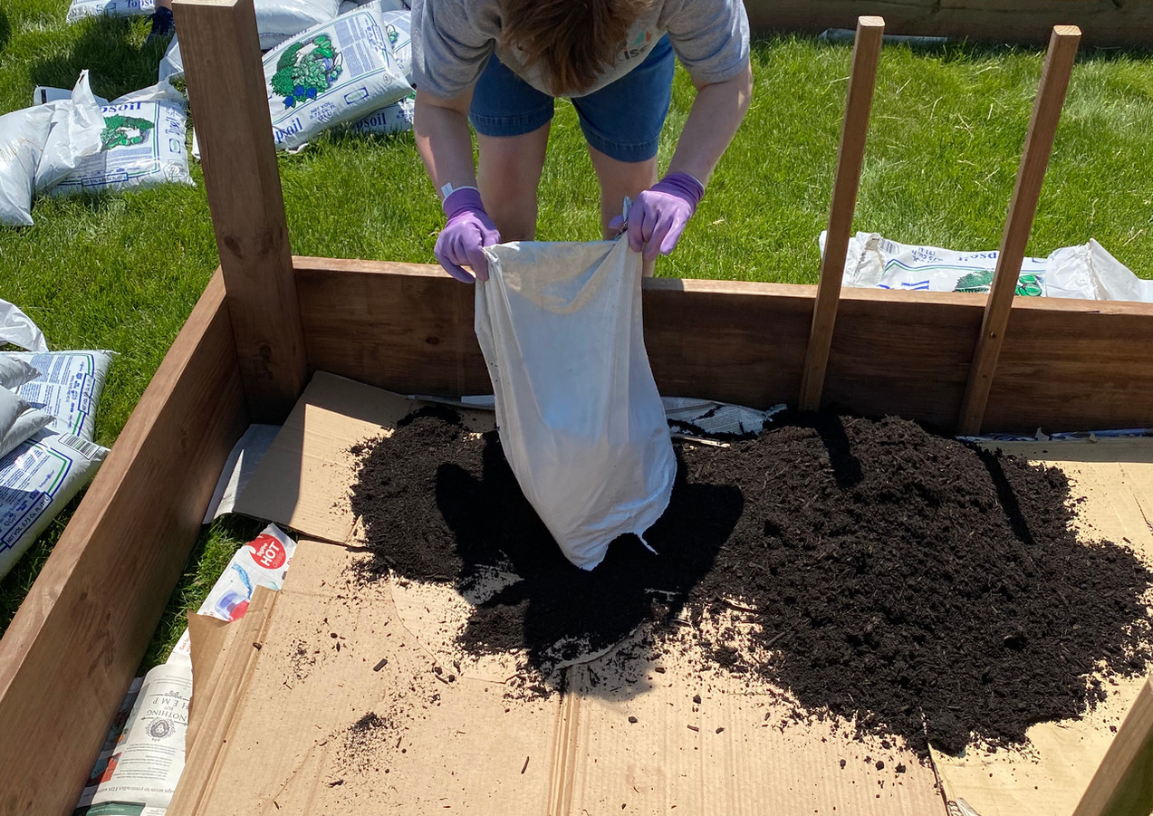 Filling Beds with Dirt