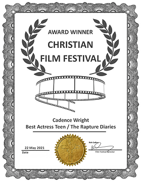 The Rapture Diaries Best Actress Teen Aw