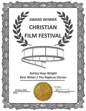 The Rapture Diaries Best Writer Award CF