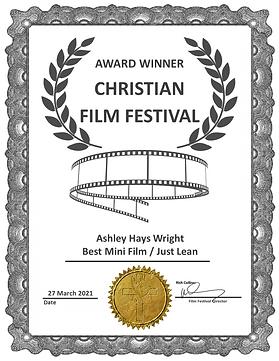 Just Lean Best Mini Film Award CFF Mar 2
