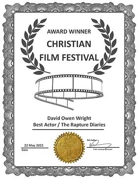 The Rapture Diaries Best Actor Film Awar