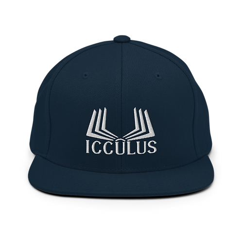 Icculus Book Classic Flat Snapback Hat with Green Undervisor | Yupoong