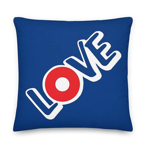 LOVE Red Donut Premium Pillow