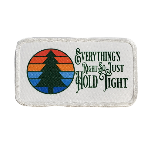 """Everything's Right Printed Patch 4.25"""" x 2.5"""""""