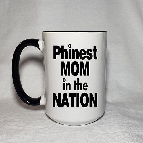 15oz Ceramic Phinest Mom In The Nation Coffee Mug