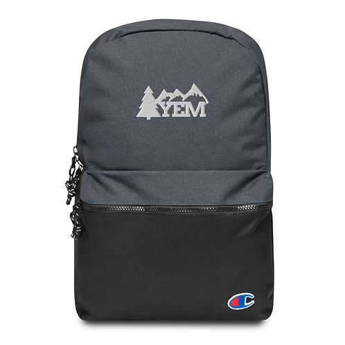 YEM Tree & Mountains Champion Backpack , Flat Embroidered